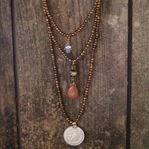 3 Layer Boho Gypsy Hamsa Spell Evil Eye Necklace